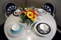 Gehan's tableware designs feature vivid graphic patterns.Kye R. Lee  -  Staff Photographer