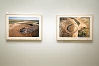 """earth artist"" Robert Smithson's photographs of Amarillo Ramp at the Dallas Museum of Art, Thursday, January 16, 2013."
