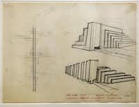 """earth artist"" Robert Smithson's Airport Idea (Tippetts, Abbett, McCarthy, Stratton) at the Dallas Museum of Art, Thursday, January 16, 2013."