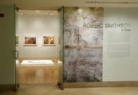 """The exhibition of """"earth artist"""" Robert Smithson's Texas legacy at the Dallas Museum of Art, Thursday, January 16, 2013."""