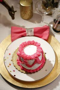 """Smrekar consulted the bakers at her local Kroger, settled on the baby cake size and, """"Voila! Individual cakes iced exactly to my request ready the very next day for $4.99 each."""""""