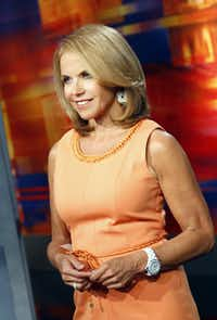 """Katie Couric was at WFFA-TV studios in Dallas on Monday, August 20, 2012 to promote her new talk show, """"Katie""""  in Dallas, Texas that will air on September 10, 2012 at 4pm on WFAA."""