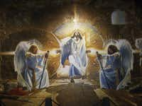 """The Resurrection"" mural by Ron DiCianni, oil on canvas, on display at the Museum of Biblical Arts in Dallas"
