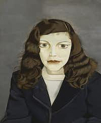 """""""Girl in a Dark Jacket,"""" 1947, by Lucian Freud, private collection, part of the exhibit """"Lucian Freud: Portraits,"""" July 1-Oct. 28, 2012, at the Modern Art Museum of Fort Worth."""