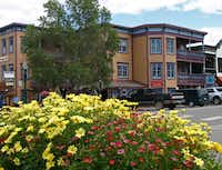 Local businesses in Crested Butte also plant mounds of flowers to further the wildflower theme.
