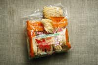 Canton dried noodle for the ingredient of homemade Japanese ramen.