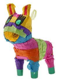 Tiny pinatas from La Mariposa make cute party favors or tabletop decorations. $4.95 each; larger sizes also available.Evans Caglage - Staff Photographer