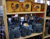 Decorative planters and baskets at Gecko Hardware in Northlake Shopping Center.