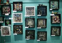 A display of artwork by shadowbox artist Laurie McClurg in her studio, photographed October 5, 2012. Her studio will be part of the 20th annual White Rock Lake Artists' Studio Tour.