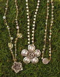 Handmade jewelry by the Eclectic Garden, available exclusively at Patina Green Home & Market, McKinney, $92-$188