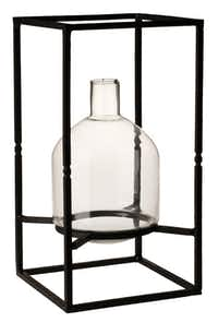 Well framed: North Haven Gardens carries special tools such as miniature rakes and tweezers to use when working with narrow-mouthed containers like the tall Irving vase crafted with forged iron and hand-blown glass. $79 at Pottery Barn, multiple locations, and potterybarn.com.