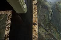 Floors of myriad luxurious stones were crafted by Ernie Perez of Allied Stone.