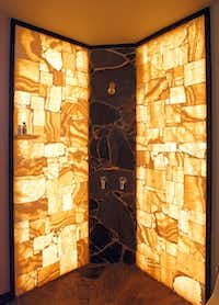 Mineral Hunters Gallery creates one-of-a-kind pieces for designers' clients, such as a shower enclosure.Mona Reeder - Staff Photographer