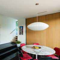 Modern furniture fills the Welch-designed house on Wyatt Circle.