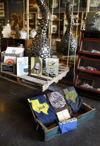 Curated, a new shop on McKinney Ave., photographed June 24, 2013. Interior view