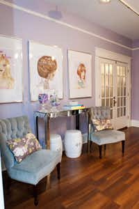 A feminine rooms starts with a soft, sophisticated color palette, such as lavender and gray.