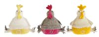 Adorable mama hens are perfect party favors for young ones. The 7-inch-tall, felt birds are available in a variety of colors. $18.95 at La Foofaraw, Plano