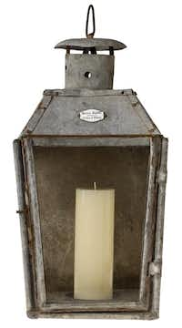 """Heirloom. This real-deal, circa-1900s metal lantern still boasts """"Marius Blanc,"""" the original maker's mark. $2,800 at Vintage Living by Lisa Luby Ryan, Dallas.Evans Caglage  -  Staff Photographer"""