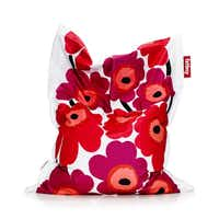 Marimekko splashes its vintage Unikko color palette on a comfy Fatboy beanbag, 55 by 70 inches. Available at Cantoni, Dallas, $329. Junior version $209 at fatboyusa.Merijn Roest/Fatboy