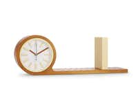 Michael Graves' shelf clock with bookend