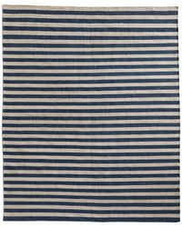 Underfoot: Restoration Hardware has tapped luxury rug maker Ben Soleimani to design a handful of products, including hand-knotted outdoor rugs. They look similar to wool but are sturdy enough to withstand the elements. Awning Stripe flat-weave outdoor rug in Marine, $329 for 3-by-5 feet to $3,989 for 12-by-15 feet. At Restoration Hardware, Dallas; the Shops at Willow Bend, Plano; and restorationhardware.com.Supplied  - SUPPLIED