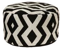 GO BOLD: The Brentwood Tribal pouf is easy on the budget. Priced at $69.99, it is one of many versions at Kohl's (multiple locations) and kohls.com