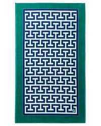 Leave it to Greek key king Jonathan Adler to create a towel with a hint of the symbol and sporting the name of the most famous Greek isle in the Cyclades. Designed in emerald green and navy blue, this towel would look pretty beside aqua waters, whether pool or ocean. Jonathan Adler's Mykonos beach towel, $88, at Horchow and horchow.com.