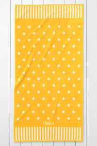 This polka dot charmer is available in five colors, though you can never go wrong with cheery yellow. Added perk: It's more than 6 feet long, for taller types. $39 at Lands' End, landsend.com.