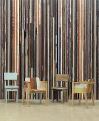 Piet Hein Eek of the Netherlands has built his business around old materials. He has exhibited at such venues as the Museum of Modern Art in New York and the Milan Furniture Fair. Scrapwood 15 ($299 a roll at wallpapercollective.com) is among his first wallpaper designs.