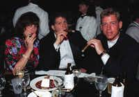 Andrea Greene, Michael Libassi and former Cowboy Troy Aikman enjoyed cigars at FightNight in '96.