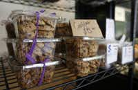 Locally made cookies in Local Yokal, a butcher shop in McKinney. Matt and Heather Hamilton run the shop, and stock it with goods from local producers.
