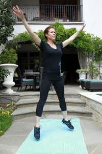 Kristin Moses of BodyBar fitness stuido says to get a 20-minute workout off to a start with jumping jacks.