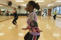 The Piloxing class at Baylor Tom Landry Fitness Center is a combination of Pilates and boxing.