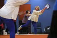 Louise Yoss, 78, of Dallas exercises in the Silver Sneakers Zumba class at the Aaron Family Jewish Community Center.