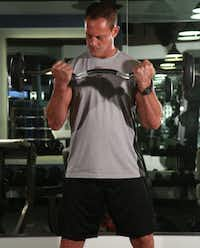 Curls isolate the biceps.