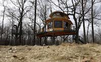 A treehouse built by Pete Nelson for Bobby and Marty Page in Malakoff, Texas, on Friday, March 14, 2014. Nelson is part of the Animal Planet's television show Treehouse Masters.Vernon Bryant  -  Staff Photographer