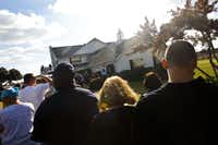 A long line of fans waited at Southfork Ranch in Parker to pay their respects to Larry Hagman and tour the mansion on Sunday.