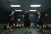 Cramped space is one of the challenges facing the Birdville High School wrestling team, which is holding a Dead Man's Dash to raise money to improve the workout facilities.