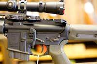 This AR-15 rifle, owned by McClelland Gun Shop employee Chris Felts, has been modified for long-range precision target shooting and is accurate from up to 10 football fields away.
