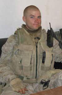 Andrew Litz, a retired sergeant in the U.S. Marines, served three tours in Iraq.
