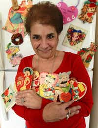 Chrisanne Arndt of Corinth started collecting vintage valentines when she found some while sorting through her mother's attic a few years ago.