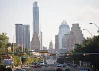 The Austin skyline in Austin on Thursday August 4, 2011.