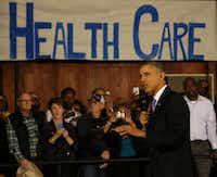 President Barack Obama speaks at Temple Emanu-El about the Affordable Care Act.