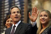 Rep. Joe Straus, R-San Antonio, waved to the crowd after accepting the nomination to again be speaker of the House during the opening session of the Texas Legislature on Tuesday in Austin.
