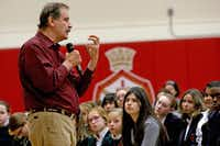 Former Mexican President Vicente Fox instructed Dallas students at Christ the King Catholic School to live a purposeful life filled with compassion.