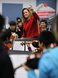 Plano West High School orchestra teacher Jo Wallace-Abbie  has been nominated for the Grammy's first Music Educator Award and is one of 10 finalists nationwide.