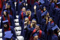 SMU's Class of 2012 was all smiles and waves during commencement Saturday at Moody Coliseum.