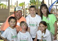 The Jensens -- Mike; Will, 13; Jenni; Andrew, 8; Nora, 6; and Grace, 12 -- are shown at Hope Park in Frisco.
