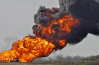 A gas pipeline explosion Thursday outside Milford in Ellis County led to much of the town being evacuated, but officials said no one was injured.