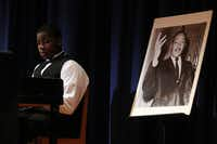 Students at W.H. Atwell Law Academy in Dallas competed in an oratorical contest to mark Black History Month at the middle school.